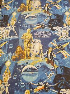 VTG Star Wars 3 Piece Twin Sheet Set Bibb 1977 Flat + Fitted + Pillow EXCELLENT