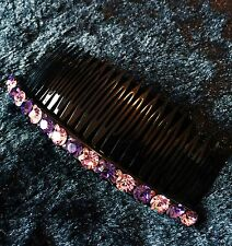 QUALITY Hair Comb using Swarovski Crystal Hairpin Party Fashion Purple Long 2