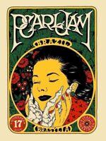 2015 Pearl Jam Brasilia, Brazil Authenitc Concert Poster Print by Brokenfingaz