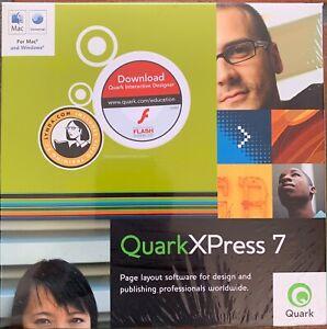 QuarkXPress 7, Windows & Macintosh, Retail Box, Full Version