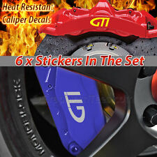 GTI Brake Caliper Sticker Decal, Car Vinly Graphic Decal Sticker