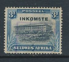 SOUTH WEST AFRICA, 1931 3d revenue fiscal stamp (corner fault)