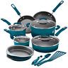 NEW Rachael Ray 15-Piece Nonstick Pots and Pans Set/Cookware Set, Marine Blue