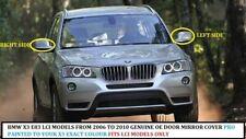 BMW X3 Rétroviseur Housse Véritable R/H Ou L. / H Peint Toute Couleur 2006-10