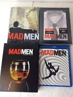 Mad Men Season One Two Three Four 1 2 3 4 DVD Blu Ray Series Set Lot Drama