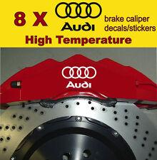 8 X Audi Brake Caliper Decal Sticker Vinyl Emblem Logo Graphics Car A