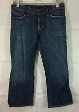 P14 Womens Citizens of Humanity Low Waist Cropped Denim Jeans! Sz 28