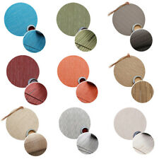 Round Placemat Weave Bamboo Lines Non-Slip Tableware Mats Kitchen Accessories