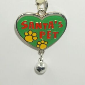 Pet Tags Charms Christmas Dog Cat Jingle Bells Pick Phrases Silver Tone NWT JB
