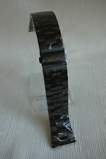 SOLID HEAVY DUTY STAINLESS STEEL WATCH BAND - COLOUR BLACK 26MM