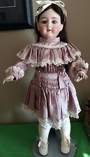 "Antique French Looking 23"" Bisque Head Composition Body Doll"