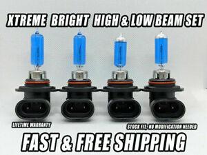 Xtreme White Headlight Bulbs For Chevy C1500 Suburban 1992-1999 High Low Beam 4