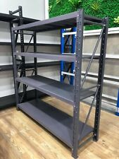 2M* x 2M WAREHOUSE METAL SHELVING SHOP SHED RACKING 800kg CHARCOAL 5-2020K
