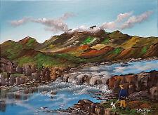 MAL..BURTON ORIGINAL ART OIL PAINTING  HIGHLANDS LOW CLOUD ISLE OF SKY SCOTLAND