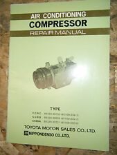 TOYOTA FACTORY AIR CONDITIONING COMPRESSOR CC6C CC6D CC6DA  SERVICE MANUAL
