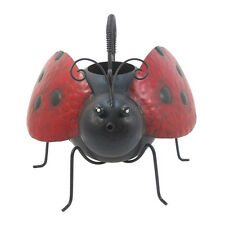LADYBUG Metal FLOWER WATERING CAN Home Plant Water Pot GARDEN DECOR ORNAMENT