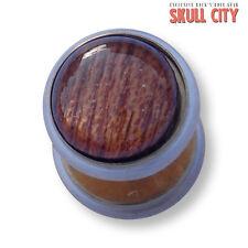 Wood Stone Oro Gemstone Fakeplug-Fake piercing pietra Plug Orecchini EAR ORECCHIO