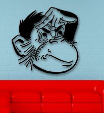 Wall Stickers Vinyl Decal Nursery Monkey Macaque Animal Funny Kids Room (ig814)