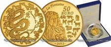 France 2012 Year Dragon Chinese Lunar Zodiac 50 Euro Gold Proof  MINTAGE = 500