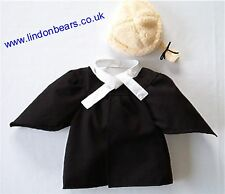 BARRISTER 3PIECE OUTFIT- FITS TEDDY BEARS 16 INCH / 40CM TALL – MADE IN ENGLAND