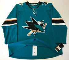 SAN JOSE SHARKS size 60 = sz 3XL - ADIDAS NHL HOCKEY JERSEY Climalite Authentic