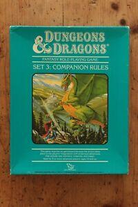 Set 3: Companion Rules 3rd Print BECMI BD&D Expansion Box Dungeon TSR 1013 1984