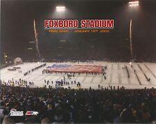 Foxboro Stadium  Final Game  Photo 8 x 10 Snow Covered & Flag Field Patriots Win