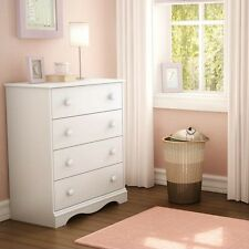 South Shore Heavenly 4-Drawer Chest, Stylish and Perfect, Pure White 3680034 New