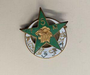 Ancien INSIGNE MILITAIRE 5ème TM Régiment de Tirailleurs Marocains - Drago