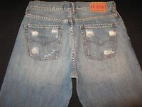 Guess Jeans Relaxed Fit Distressed Wash 100% Cotton Sz 32 X 31