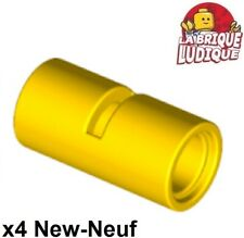 Lego technic 4x Pin Connector tube connecteur 2L pipe tube jaune 62462 NEUF