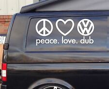 2x Extra large pace love SURF Funny Car/Window VW EURO Vinyl Decal Sticker 60cm
