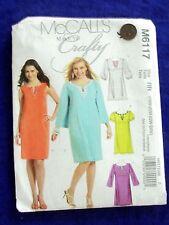 UNCUT MCCALL # M6117 WOMENS SZ 18W-20W-22W-24W  UNUSUAL DRESS SEWING PATTERN