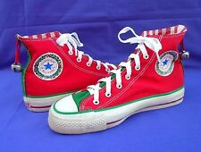 VTG CONVERSE ALL-STAR CHRISTMAS JINGLE BELLS CANVAS SNEAKERS MADE IN USA SIZE 6
