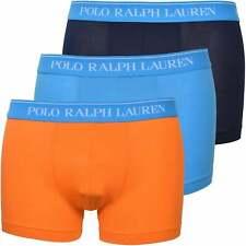 Polo Ralph Lauren Men's 3-Pack Classic Boxer Trunks, Navy/Orange/Blue