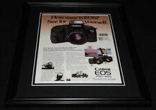 1988 Canon EOS 750/850 Camera Framed 11x14 ORIGINAL Advertisement
