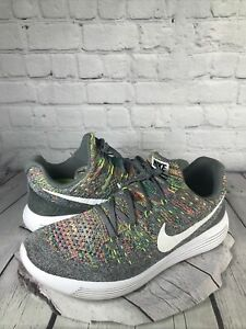 Nike Mens Lunarepic Flyknit 2 Running Shoes Gray 863779-003 Lace Up Low Top 9.5M