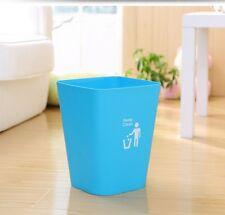 Paper Bin Waste Basket Office Home Kitchen Bathroom Bedroom Trash Recycle Blue