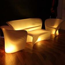 LED Light Up Shell Double Chair Garden Seating