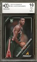 2013-14 Pinnacle #5 Giannis Antetokounmpo Rookie Card BGS BCCG 10 Mint+