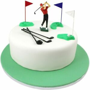 Golf Cake Decoration Plastic PME Figures, 13-Pieces, Green/Red/Blue/White/Black,