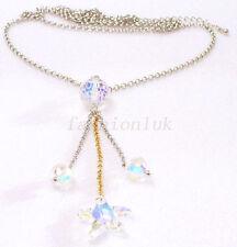Handgefertigte Modeschmuck-Halsketten aus Kristall