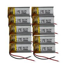 10 PEZZI 3.7v 100 mAh Lipo batteria Li polimeri per GPS AURICOLARE BLUETOOTH PENNA 381225