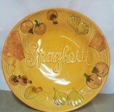 Vintage Los Angeles Pottery Potteries Large Spaghetti Ceramic Serving  Dish #510