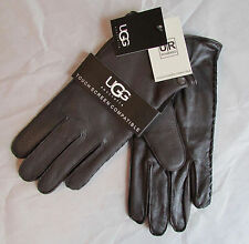 UGG Gloves Tech Smart Leather Darin Side Whip Stitch NEW