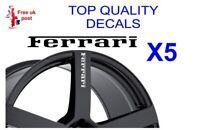 5 X FERRARI ALLOY WHEEL Decals  sticker
