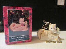 Precious Moments Ornament I'm Nuts About You Dated 1992 520411