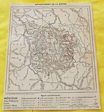 1898 Département de la Nièvre Nevers Chateau-Chinon Nevers Pouilly