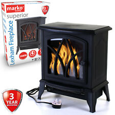 Electric Fireplace 2KW Fire Wood Flame Heater Stove Living Room Log Burner 2000W