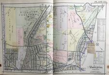 1916 Montgomery Co. Pa, Abington, Ardsley Burial Park, Glenside, Copy Atlas Map